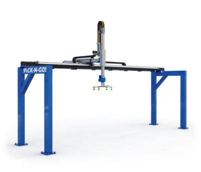 robot cartesiani a 3 assi a sbalzo per impianti di pallettizzazione