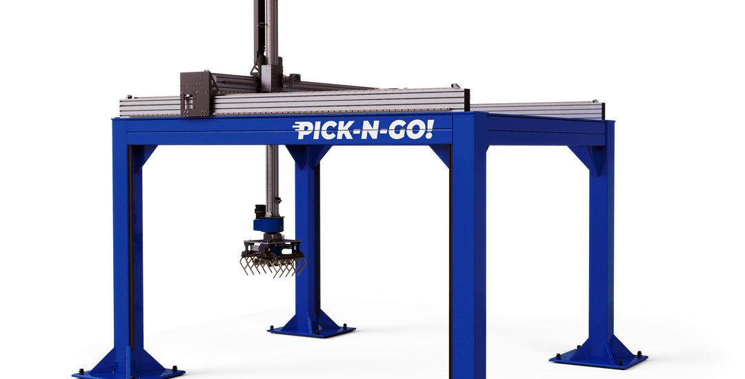 Questo è un robot pallettizzatore LinearLEAD unità lineari e robot cartesiani