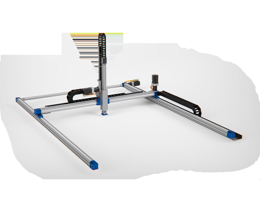 robot lineari a tre assi gantry, quale taglia scegliere?